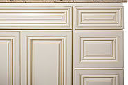 Antique White Bathroom Cabinet at Summit Cabinets