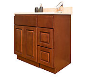 Kingston Brown Bathroom Cabinet - Summit Cabinets