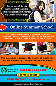 Attend The Online Summer School Courses With American High school
