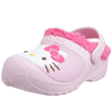 Crocs Hello Kitty Lined Custom Clog Kids Girls Footwear, Size: 2 M US Little Kid, Color: Bubblegum/Fuchsia