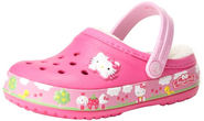 crocs 14632 CB Hello Kitty FR LD Clog (Toddler/Little Kid),Neon Magenta,8 M US Toddler