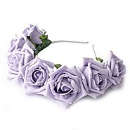 Whole Lotta Rosie Headband - Lilac