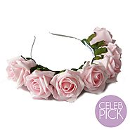 Whole Lotta Rosie Headband - Blush Pink
