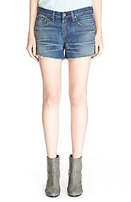 High Rise Cutoff Denim Shorts (Torrington)