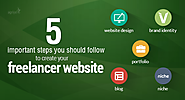 5 important steps you should follow to create your freelancer website