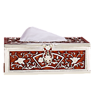 Gifting Sites in India Tissue Box Red Colour