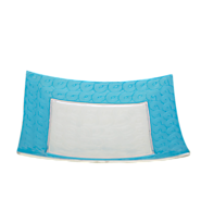 Gift Sites In India Platter-Square with Blue Border