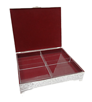 Buy Gifts Online India Dry Fruit Box with 4-Partitions