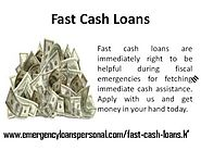 Fast Cash Loans - Speedy Money For Unforeseen Expenses
