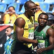 """I never esperrerit"" Nigerian Olympic Runner Finishes Second, behind Usain Bolt, in 200 Meter Run - Davina Diaries"