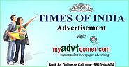 Ads Book In Times OF India