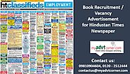 Publish attractive Hindustan Times Recruitment Ads and get noticed | Myadvtcorner