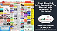 Times of India Ad Booking for Ghaziabad can now be done online | Myadvtcorner
