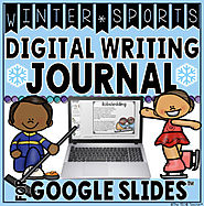 WINTER SPORTS DIGITAL WRITING JOURNAL IN GOOGLE SLIDES™ by The Techie Teacher