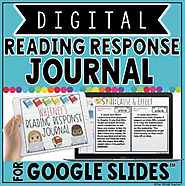 DIGITAL READING RESPONSE JOURNAL IN GOOGLE SLIDES™ by The Techie Teacher