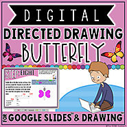 DIGITAL DIRECTED DRAWING IN GOOGLE DRIVE™: BUTTERFLY by The Techie Teacher