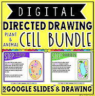 DIGITAL DIRECTED DRAWING IN GOOGLE SLIDES™: CELL BUNDLE by The Techie Teacher