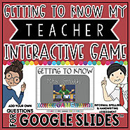 GETTING TO KNOW MY TEACHER GAME TEMPLATE IN GOOGLE SLIDES™ | TpT