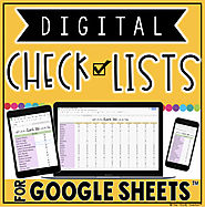 DIGITAL CHECK LISTS FOR GOOGLE SHEETS™ {1/2 OFF for 24 HOURS) | TpT