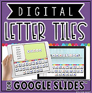 DIGITAL LETTER TILES FOR GOOGLE SLIDES™ by The Techie Teacher | TpT