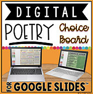 DIGITAL POETRY CHOICE BOARD FOR GOOGLE SLIDES™ {50% OFF for 24 hrs!}