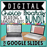 READING & LANGUAGE ARTS DIGITAL CHOICE BOARDS BUNDLE FOR GOOGLE DRIVE™