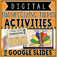 DIGITAL THANKSGIVING THEMED ACTIVITIES IN GOOGLE SLIDES™ by The Techie Teacher