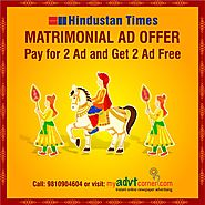 Matrimonial Newspaper Advertisement