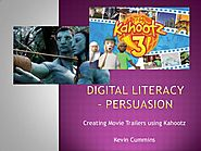 Digital literacy – persuasive movie trailers.