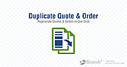 Dynamics CRM Duplicate Quotes & Order Plugin Creates Replica In a Click