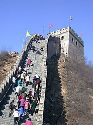 THE GREAT WALL WALL OF CHINA BECAME A UNESCO SITE AND MANY PEOPLE VISIT AND CLIMB IT EACH YEAR