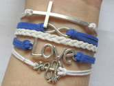 nautical i love you bracelet