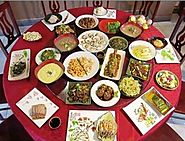 Chinese table layout.
