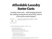 Affordable Laundry Sorter Carts