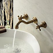 Antique Inspired Bathroom Faucet (Polished Brass Finish)