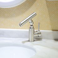 Brass Centerset Rotatable Stainless Steel Ceramic Valve Single Handle One Hole Bathroom Sink Faucet