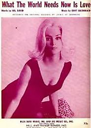 """What the World Needs Now Is Love"" - Jackie DeShannon (1965)"