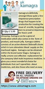 Kamagra de-stresses the bloodstream along with improves blood flow from male organ