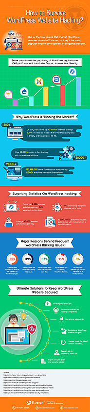 How to Survive WordPress Website Hacking? [Infographic]