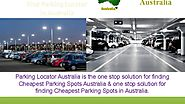 Parking Locator Australia- Cheapest Parking Spaces to Rent, Lease & Sale