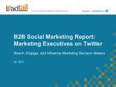 [NEW INSIGHTS] How Are Marketers Using Twitter?