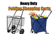 Affordable Heavy Duty Folding Grocery and Laundry Shopping Carts