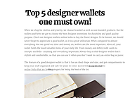 Top 5 designer wallets one must own!