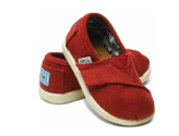 Toms Tiny Classic Canvas Slip-on for Babies , Red Toddler 3: Shoes