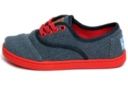 Toms Kids/Babies Cordones Blue Rugged Canvas 022144C13-Brugd