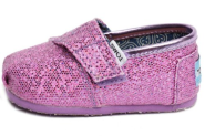 Tiny Toms Purple Glitter Classic Slip On for Babies