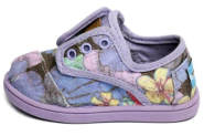 Toms Kids Tiny Cordones Purple Tropical Print