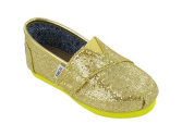 TOMS Infants TOMS TINY CLASSICS CANARY GLITTER CASUAL SHOES
