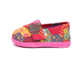 TOMS KIDS TINY PINK PATCHWORK CLASSICS Baby/Infant/Toddler PINK