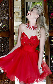 Beaded Sweetheart Neck Keyhole Discount Red Pleated Short Lace Homecoming Dresses